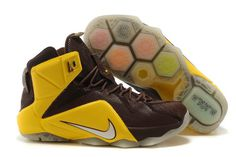 New Nike Shoes Zoom Lebron Xii 12 Mens Online Yellow Brown on