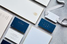 "Brand Identity for Poste & Co. by Stitch Design Co. ""Poste and co is a luxury invitation design and stationery business. Their custom appr"