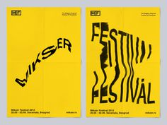 Mikser Festival 2012 on Behance #distortion #xerox #typography