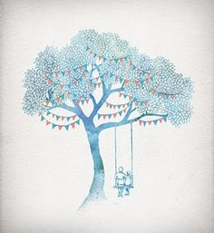 premier reg'art #tree #illustration #watercolor #david #fleck