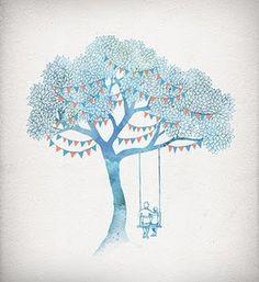 premier reg'art #tree #illustration #watercolor #david #fleck