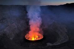 Nyiragongo Crater: Journey to the Center of the World - The Big Picture - Boston.com #smoke #earth #photography #fire #volcano