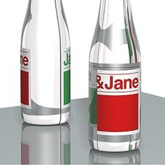 2.jpg 300×300 pixels #janejane #red #tjep #bottle #packaging #design #label #helvetica #green