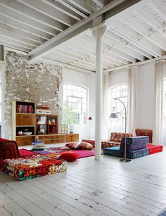 colorful loft #interior #design #decor #deco #decoration
