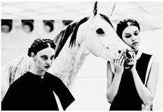 women and horse