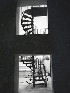 iPhone bermondsey stairs   Flickr - David Walby #white #london #& #steps #black #walby #photography #bike #stairs #david #typography