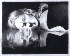 East of Eden | MERCEDES HELNWEIN #helnwein #14 #17 #of #black #on #paper #mercedes #inches #art #x #pencil #eden #east