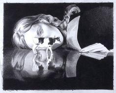 East of Eden | MERCEDES HELNWEIN #helnwein #14 #17 #of #black #on #paper #mercedes #inches #art #x #pencil #eden #east