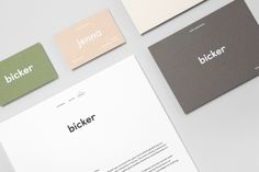 Bicker branding corporate design identity visual minimal beautiful clean nice by Mildred & Duck Australia Melbourne Mindsparkle Mag business