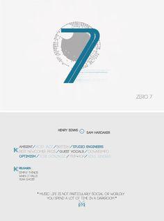 Pre-Printing on the Behance Network #music #illustration #zero7 #postcard