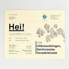 Deichmanske Library identity at iainclaridge.net #identity