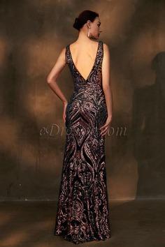 eDressit Sparkle Beaded Straps V-Cut Long Evening Party Dress (02203368)