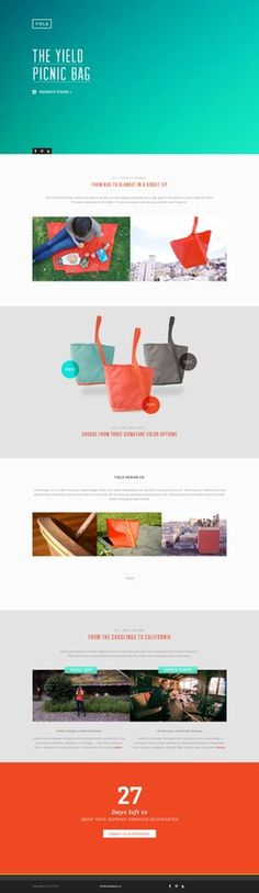 DesignersMX: The Yield Picnic Bag by castavridis #web #gradient