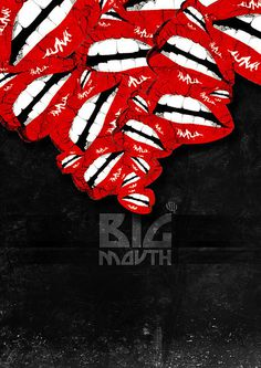 Big Mouth poster by Lena Sotto Mayor #vector #rock #design #graphic #illustration #roll #poster #and #mouth
