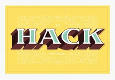 FFFFOUND! | In Hack We Trust | The Graphic Works of Bernard Barry #yellow #custom #letters #typography
