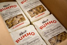 Rummo Italian pasta packaging design #packaging #pasta #fusilli #rummo