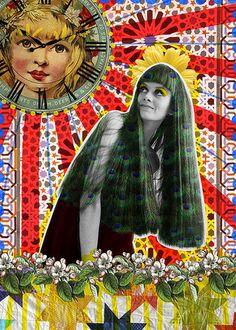 Es el momento | Peperina Magenta #creative #arte #amor #woman #color #digital #ilustraciã³n #vintage #ilustration #art #collage #colour #love #work