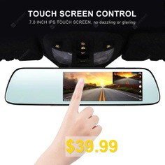 Mirror #Dash #Cam #1080P #Car #Camera #with #7 #Inch #Touch #Screen #Motion #Detection