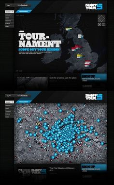 Nike Show Your 5 / 2009 on the Behance Network #interface #nike #weblayout #webdesign #layout #web