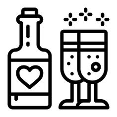 See more icon inspiration related to dinner, alcohol, wine, food and restaurant, alcoholic drinks, wine bottle, wines, romantic, celebration, alcoholic, cups, bottle, food, drink and cup on Flaticon.