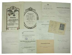 Württemberg: property of certificates group of a riding master in the Uhlan-Regiment