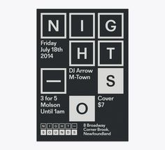 apexministry: Visual identity by Winter-Hebert for Night Sounds, a Newfoundland-based nightclub with a mix of EDM, Hip-Hop and Top-40 dance #dd