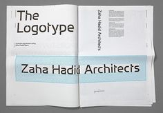 Creative Review - A new identity for Zaha Hadid Architects #print #branding