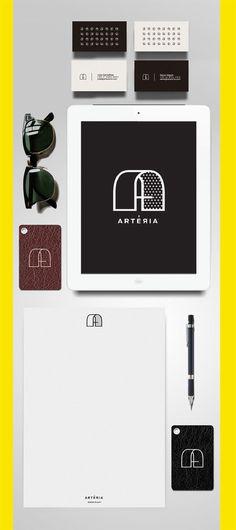 Arteria identity design #logo