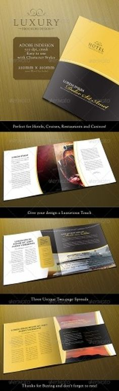 Print Templates - Luxury 8-Page Brochure Template | GraphicRiver #template #luxury #indesign #brochure