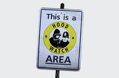 Hood Watch. Hoods watching the Cops, neighbourhood watch #parody #fezwitch #branding #satire #watch #neighbourhood #logo #cops