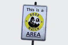 Hood Watch. Hoods watching the Cops, neighbourhood watch
