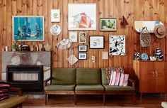 Australian house : living room. Divano