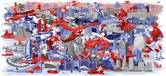 Red Bull on Behance #illustrated #scene #redbull