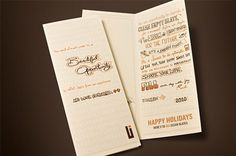 Urban Influence Holiday Promo 09 on the Behance Network #brochure #typography