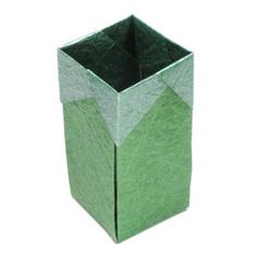 How to make a tall square origami box (http://www.origami-make.org/howto-origami-box.php)
