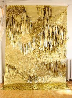 Pinned Image #wall #textile #gold
