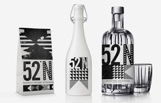 north #packaging #drink #label #bottle