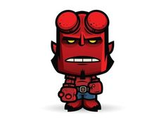 Dribbble - Lil Hellboy by Jerrod Maruyama #kawaii #illustration #character #hellboy