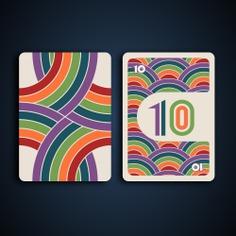 Rainbow card game - wild 10 card