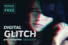 Digital Glitch Effect PSD Templates - Add-Ons - 1