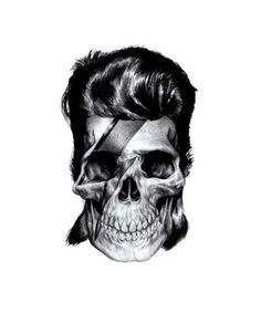FFFFOUND! | this isn't happiness.™ #bowie #illustration #graphite