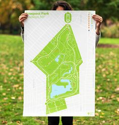 New Logo and Identity for Prospect Park Alliance by OCD #map #cartography #park #new york #poster