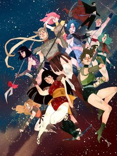 supersonic electronic / art - Kevin Wada. The fantastic illustrations of Kevin... #superheros