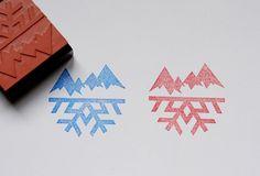 snowflake #block #stamp #print