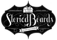 Various Lettering Projects on Typography Served #white #storied #black #boards #and #logo #typography