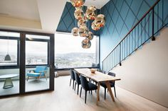 Stylish Penthouse Overlooking Limmat Valley in Zurich #apartment #design #decor #penthouse
