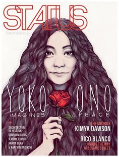 Yoko Ono - STATUS Magazine Issue 20 on the Behance Network #cover #illustration