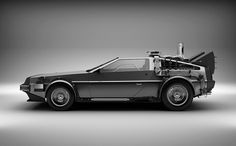DeLorean DMC-12 #white #black #the #future #back #photography #and #delorean #car #to