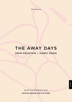 The Away Days Poster #days #flyer #design #the #hoxton #poster #art #away #kiss