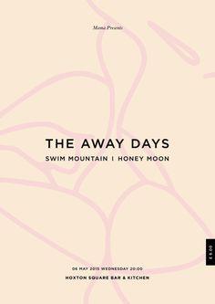 The Away Days Poster #days #flyer #design #the #hoxton #poster #art #away #kiss